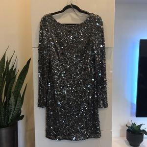 Aiden Mattox Sequin Mini Dress